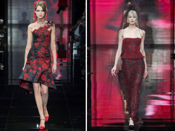 A kifutók tobzódnak a szebbnél szebb elegáns ruhakölteményekben, ötletet adva az ünnepi öltözködéshez.
